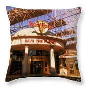 Hard Rock Cafe At Union Station Throw Pillow