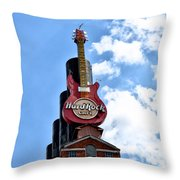 Hard Rock Cafe - Baltimore Throw Pillow