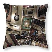 Hard Rock Cafe Hollywood Florida Throw Pillow