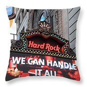 Hard Rock Cafe New York Throw Pillow