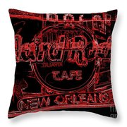 Hard Rock Cafe Nola Throw Pillow
