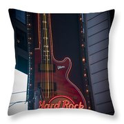 Hard Rock Guitar Nyc Throw Pillow
