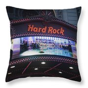 Hard Rock Marquee Nyc Throw Pillow