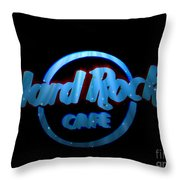 Hard Rock Neon In Space Throw Pillow