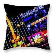 Hard Rock Vegas Throw Pillow