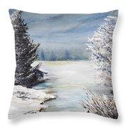 Hard Winter Throw Pillow