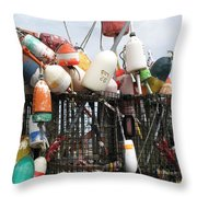 Hard Working Buoys Throw Pillow