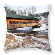 Hardwick Covered Bridge  Throw Pillow