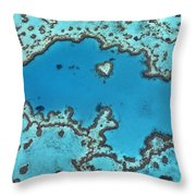 Hardy Reef On Great Barrier Reef Throw Pillow