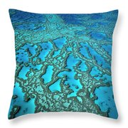 Hardy Reef On The Great Barrier Reef Marine Throw Pillow