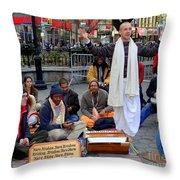 Hare Krishnas Nyc Throw Pillow