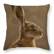 Hare Portrait I Throw Pillow