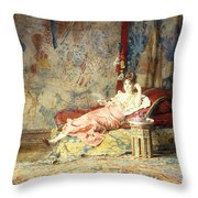 Harem Beauty Throw Pillow by Alexandre Louis Leloir