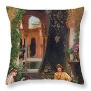 Harem Women Throw Pillow