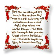 Hark The Herald Angels Sing Throw Pillow