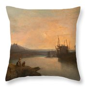 Harlech Castle Throw Pillow