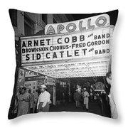 Harlem's Apollo Theater Throw Pillow