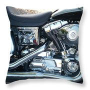 Harley Black And Silver Sideview Throw Pillow