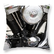 Harley Chrome And Steel Throw Pillow