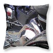 Harley Close-up Blue Lights Throw Pillow