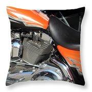 Harley Close-up Orange 1 Throw Pillow