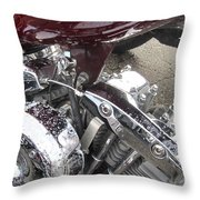 Harley Close-up Possessed Throw Pillow