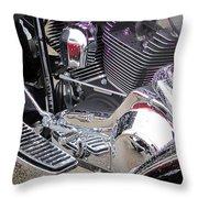 Harley Close-up Purple Lights Throw Pillow