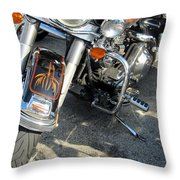 Harley Close-up W Shadow 1 Throw Pillow
