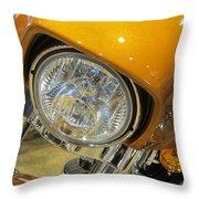 Harley Close-up Yellow 2 Throw Pillow