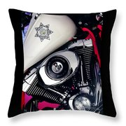 Harley Cop 2 Throw Pillow