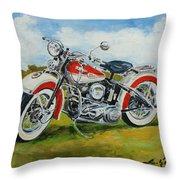 Harley Davidson 1943 Throw Pillow
