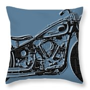 Harley-davidson And Words Throw Pillow