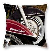 Harley Davidson Heritage Softail And Road King Throw Pillow