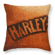 Harley Davidson Leather Tool Bag  Throw Pillow