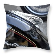 Harley Davidson Motorcycle American Eagle Fender Ornament Usa Throw Pillow