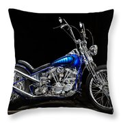Harley-davidson Panhead Chopper From The Wild Angels Throw Pillow