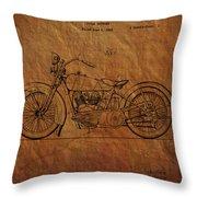 Harley Davidson Patent  Throw Pillow