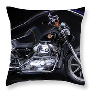 Harley Davidson Sportster Throw Pillow