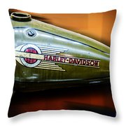 Harley-davidson Tank Logo Throw Pillow