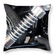 Harley Engine Close-up 2 Throw Pillow