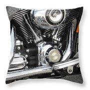 Harley Engine Close-up Rain 3 Throw Pillow