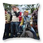 Harley Gang Throw Pillow