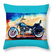 Harley Hog I Throw Pillow