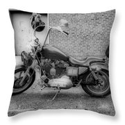 Harley In Black And White Throw Pillow
