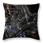 Harley In Chrome Throw Pillow