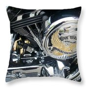 Harley Live To Ride Throw Pillow