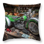 Harley Trike Throw Pillow