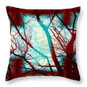 Harmonious Colors - Red White Turquoise Throw Pillow