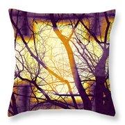 Harmonious Colors - Violet Yellow Orange Throw Pillow