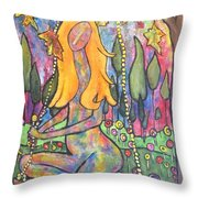 Harmony Throw Pillow by Chaline Ouellet